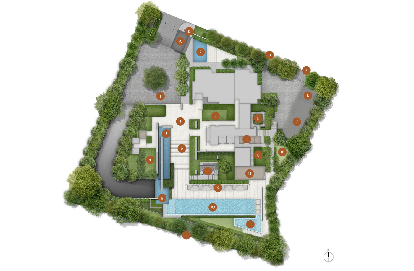 19 nassim, site plan, level 1, roof, facilities
