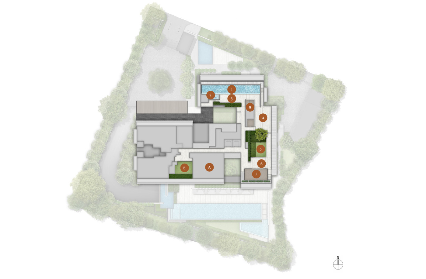 19 nassim, site plan, level 10, roof, facilities