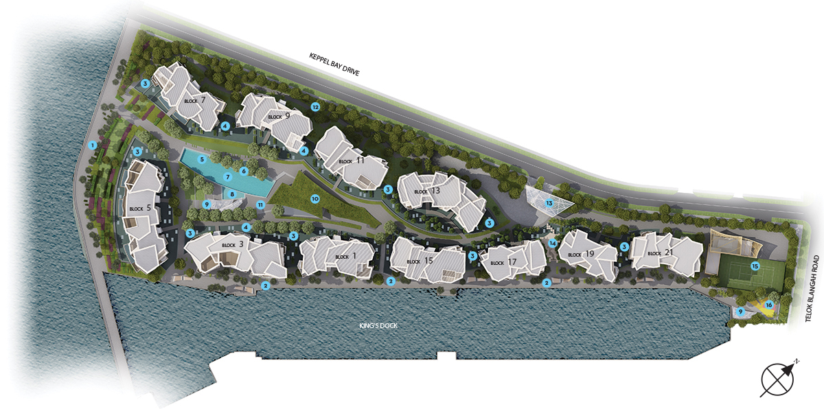 Corals at Keppel Bay, siteplan, mobile