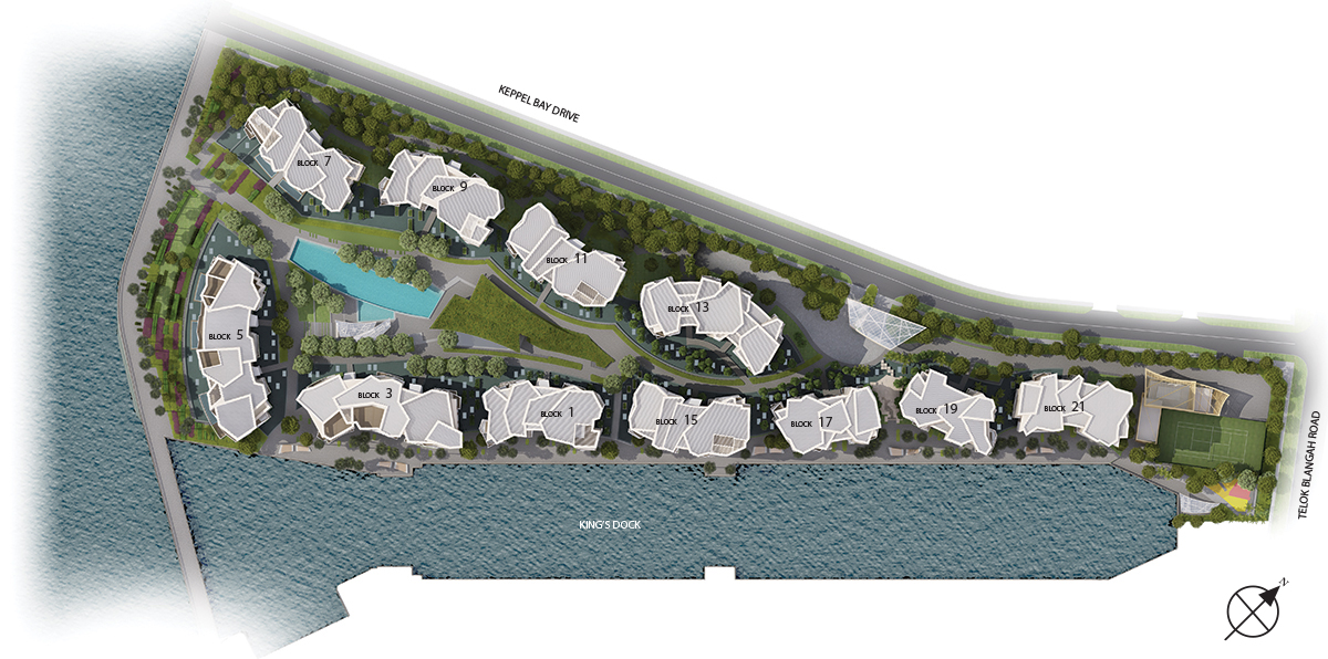 Corals at Keppel Bay, siteplan