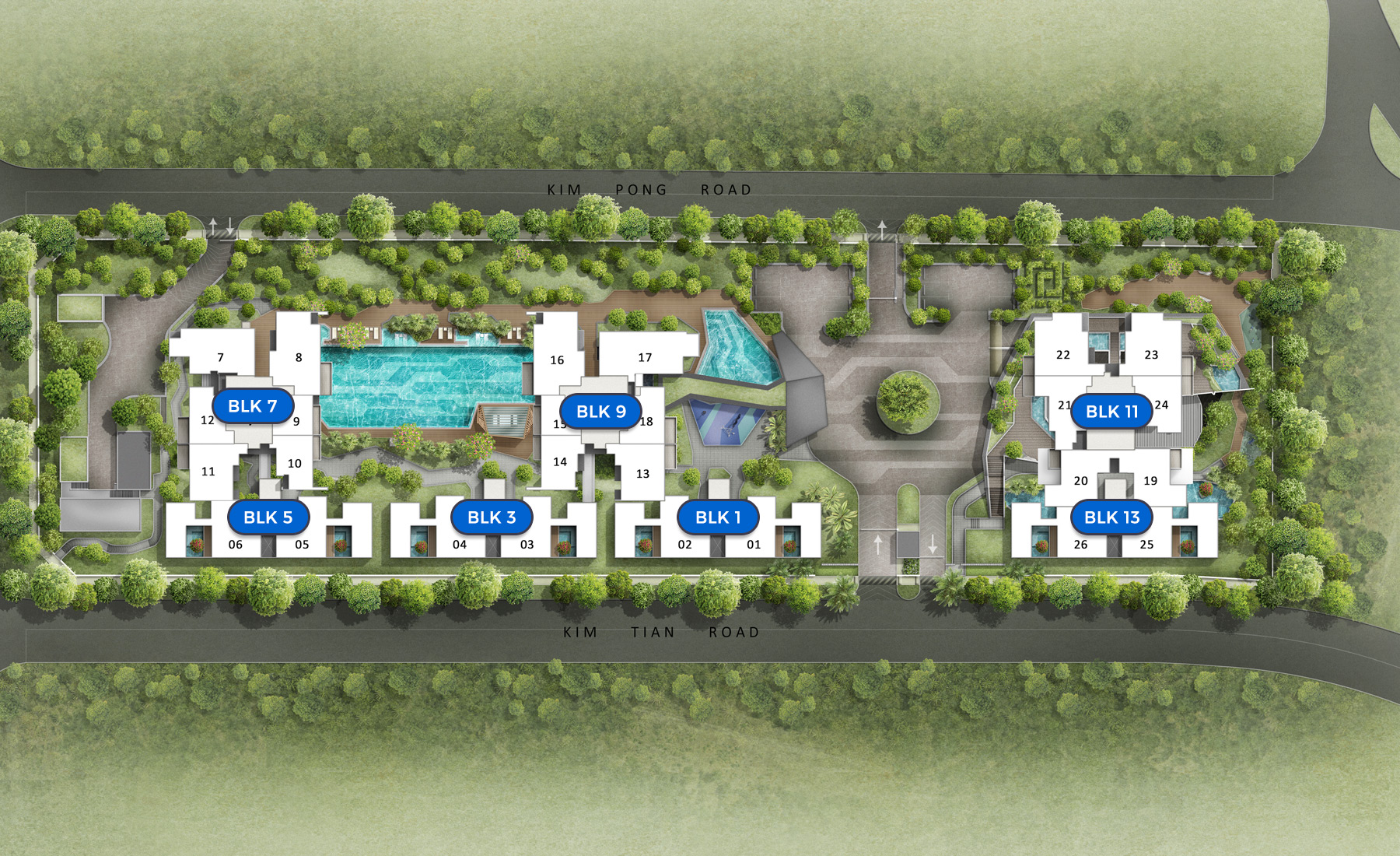 highline residences floor plan, mobile view