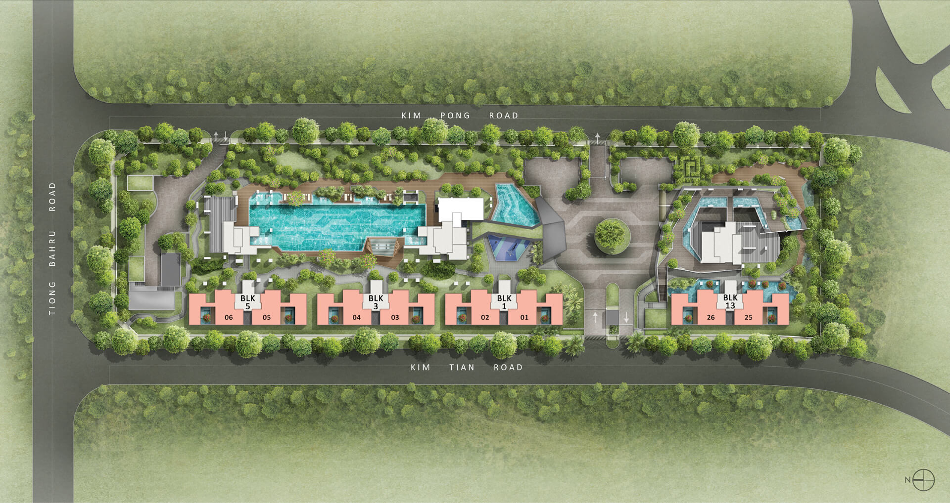 highline residences, sitemap, level 1