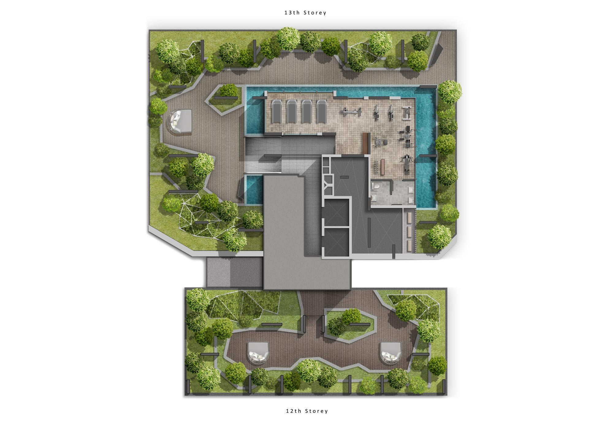 highline residences, sitemap, level 12 to 13