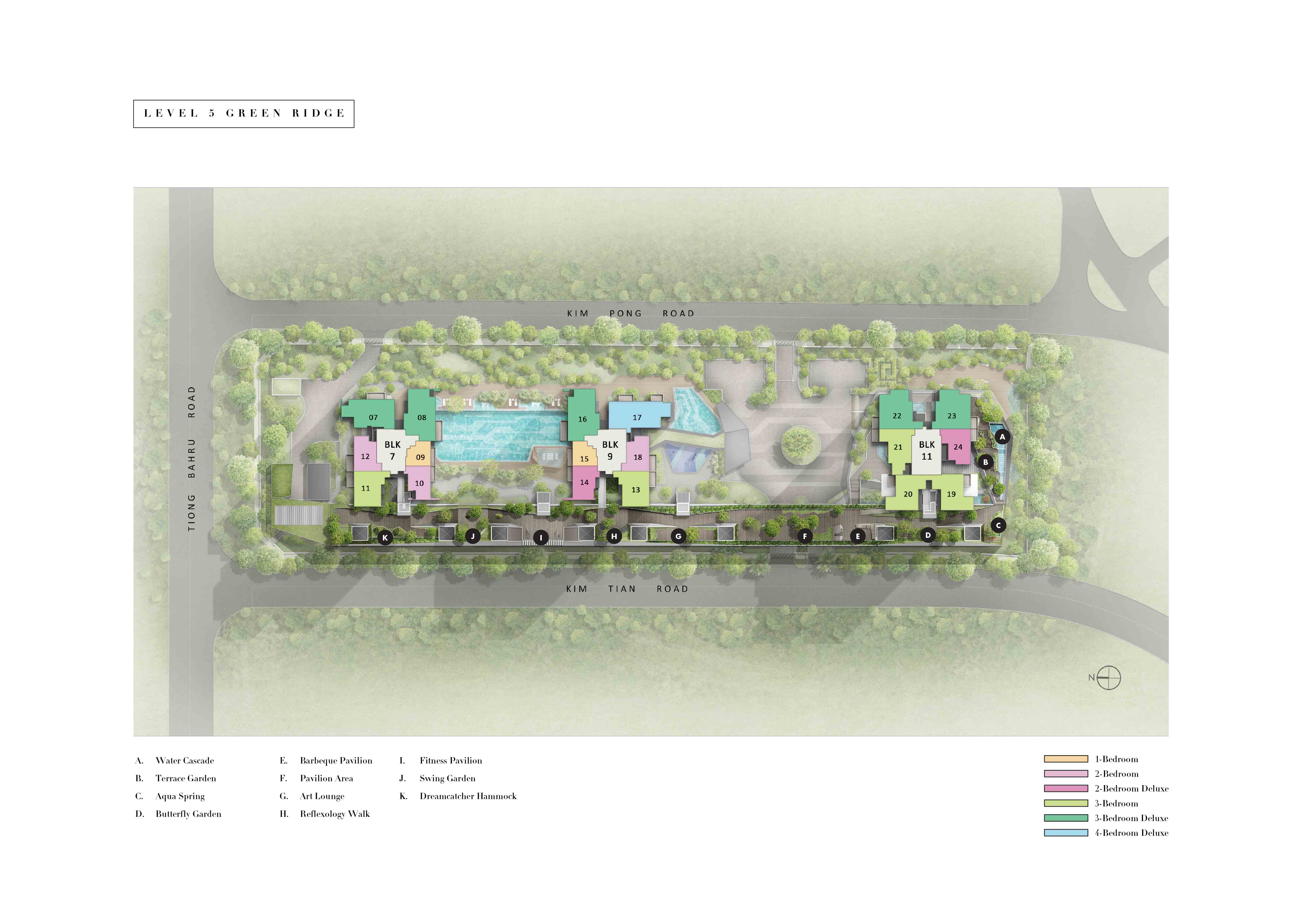 highline residences, sitemap, level 5