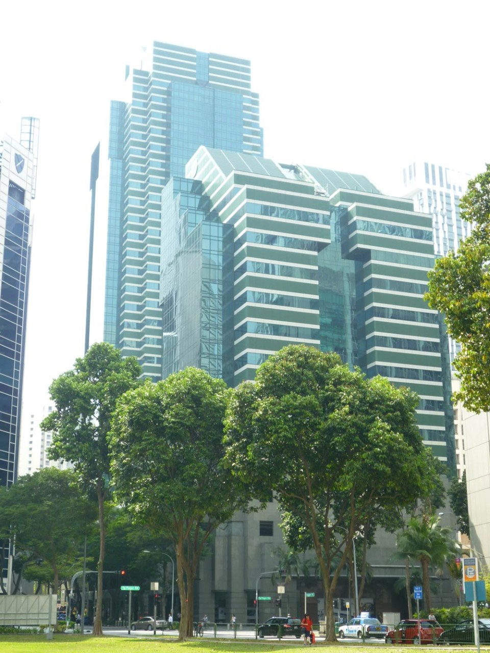 Keppel Towers and Keppel Towers 2, Tanjong Pagar Road, office buildings, Hoe Chiang Road, Singapore, CBD