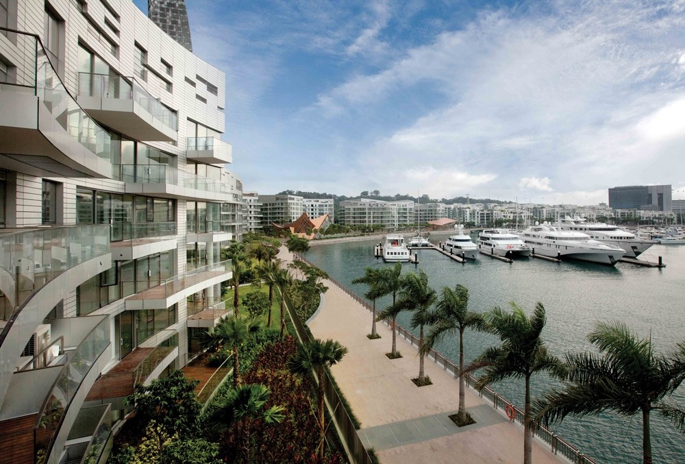 Reflections, Keppel Bay, soaring towers, condominium, promenade, waterfront