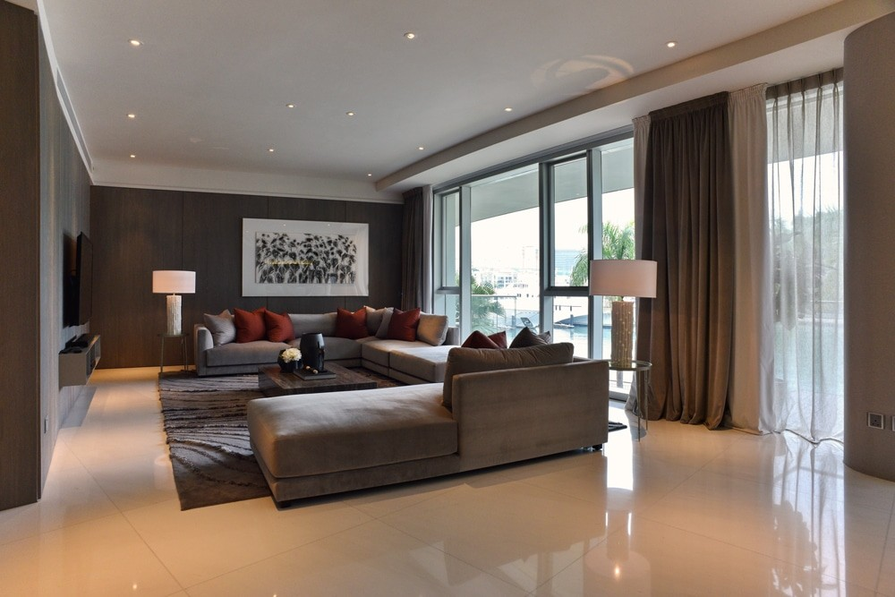 Reflections, Keppel Bay, living room