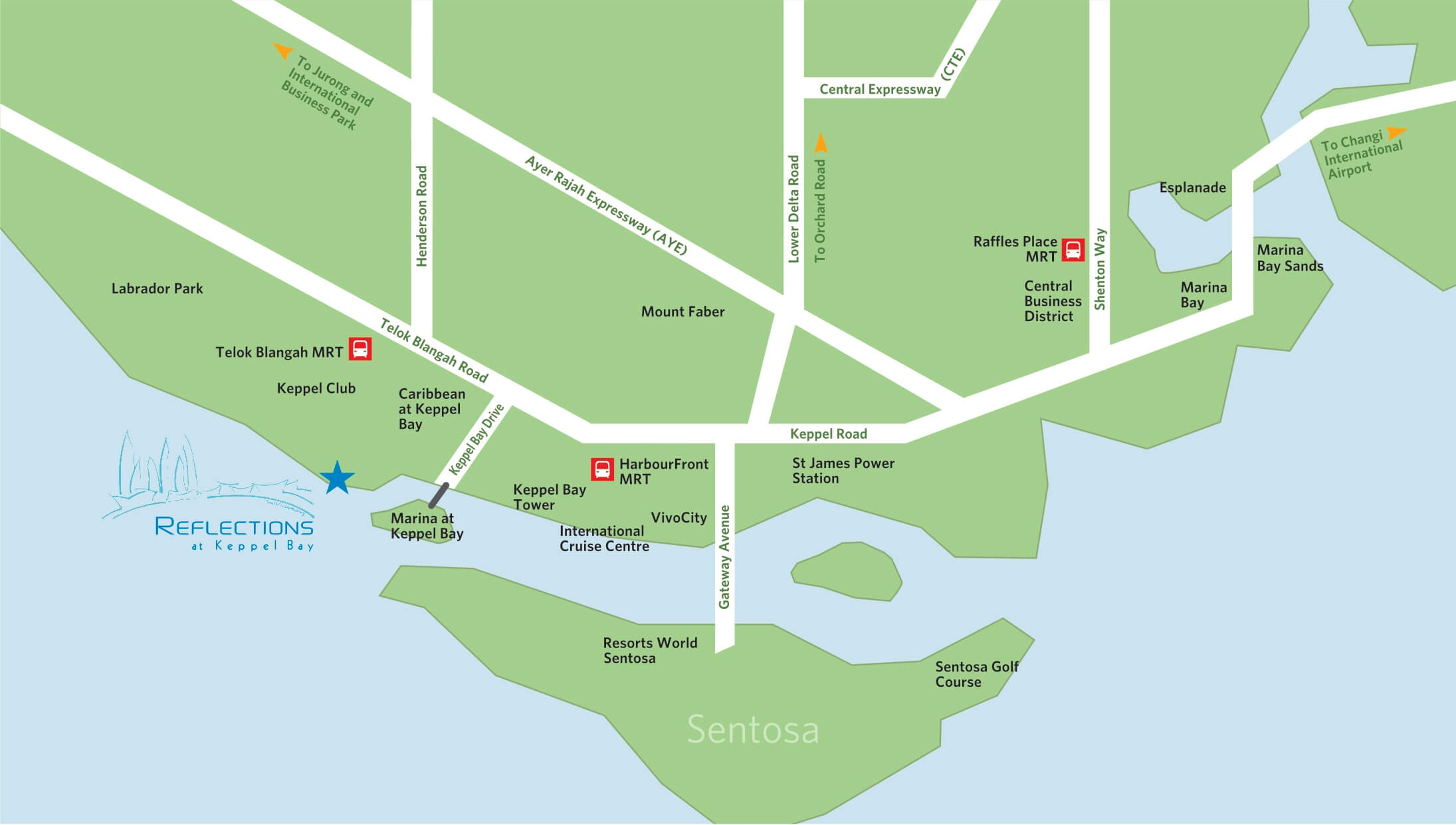 Reflections at Keppel Bay location map