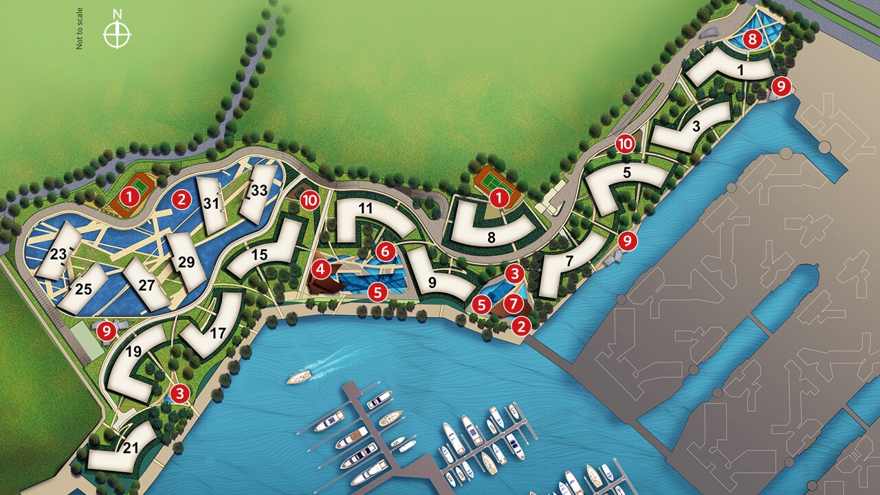 Reflections at Keppel Bay Site plan mobile