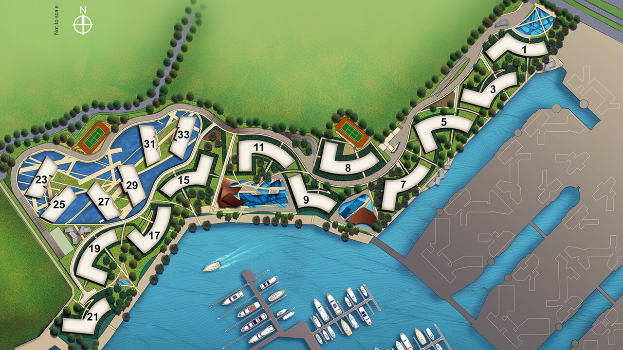 Reflections at Keppel Bay Site plan