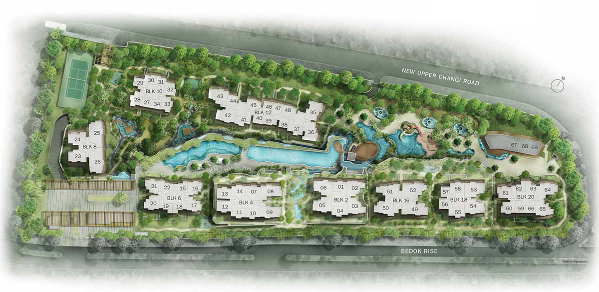 the glades, tanah merah, site plan
