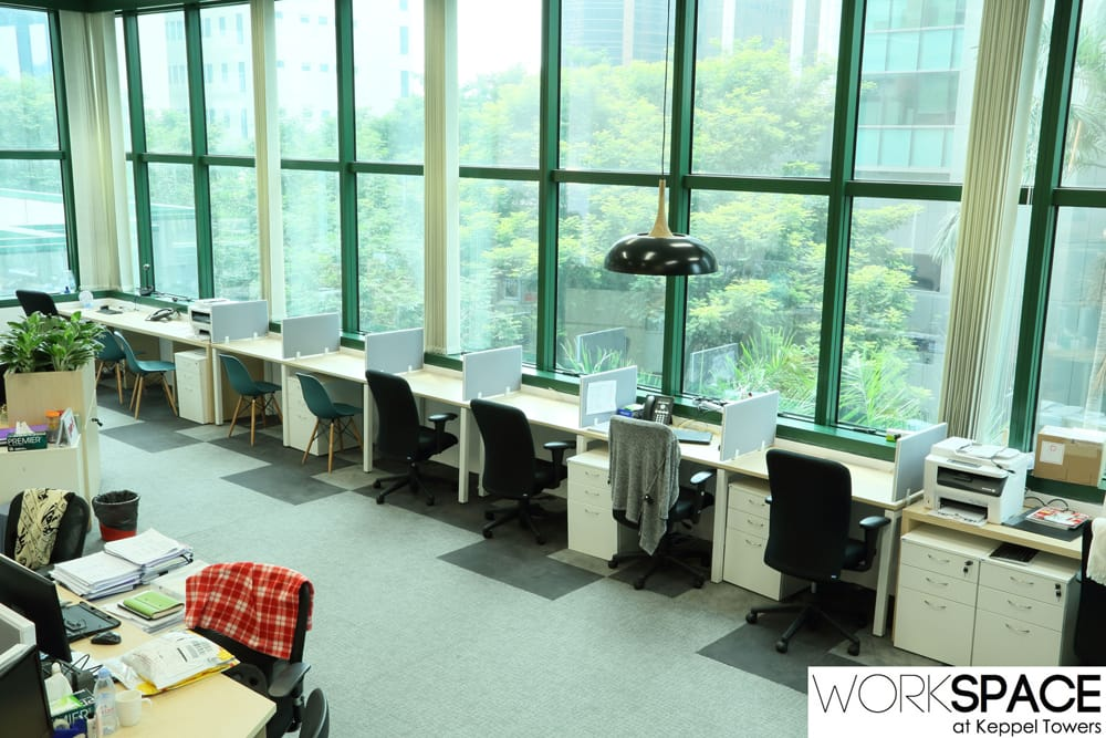 Workspace, Keppel Towers, designated area, room, workstations, hotdesks