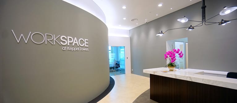 Workspace, Keppel Towers, front desk