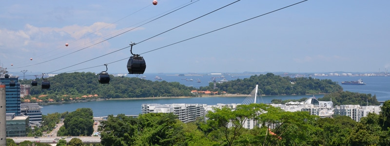 singapore cable car, sentosa, harbourfront, sightseeing, singapore, near keppel bay
