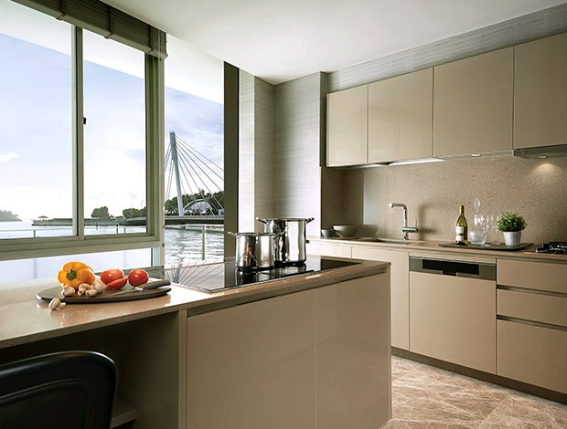 corals at keppel bay, keppel land, waterfront property, de dietrich, oven, kitchen