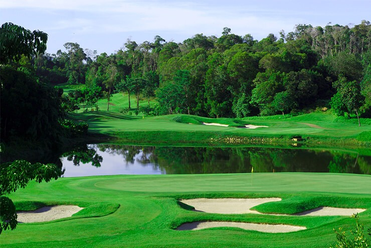 ria bintan golf course, golf, sea view