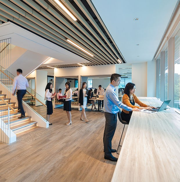 keppel land, new office, keppel bay tower, agile office, open office concept, keppel corporation